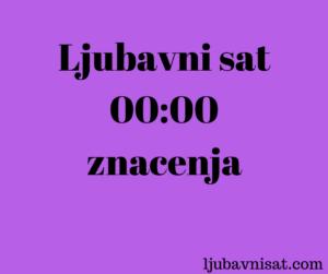 ljubavni sat znacenja cure muskarci 00 00