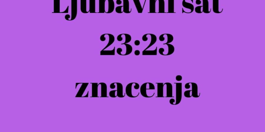 ljubavni sat sati znacenja cure muskarce zene 23